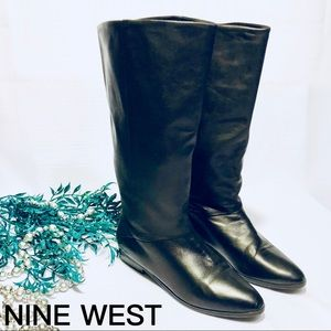 Nine West Tall Genuine Leather Boots